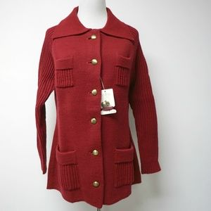 VTG Montgomery Ward red sweater / cardigan